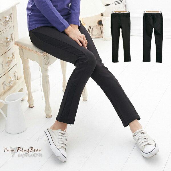 長褲--運動最佳單品羅紋拼接設計超彈性透氣排汗長褲(黑2L-5L)-P48眼圈熊中大尺碼 0