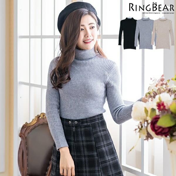 高領針織--暖氛圍繞收腰顯瘦保暖親膚高彈力高領針織毛衣(黑.灰.可可XL-3L)-X243眼圈熊中大尺碼 0