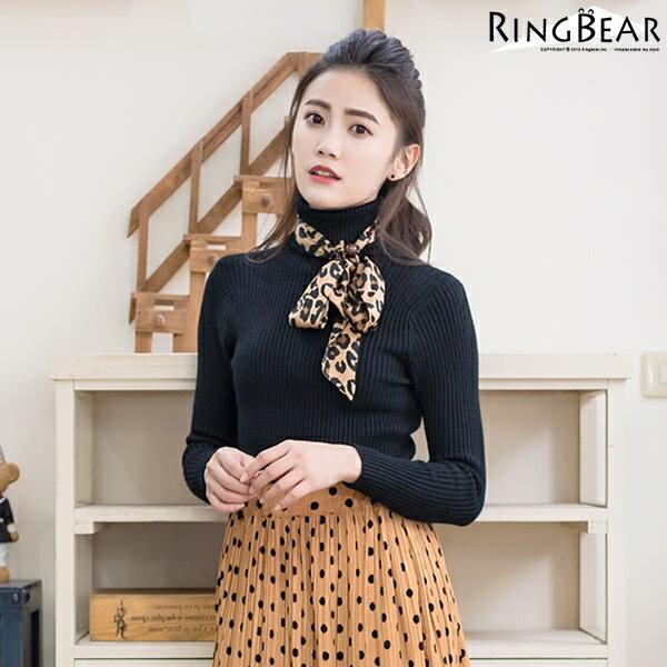 高領針織--暖氛圍繞收腰顯瘦保暖親膚高彈力高領針織毛衣(黑.灰.可可XL-3L)-X243眼圈熊中大尺碼 1