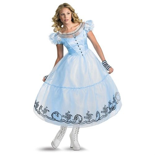 Alice in Wonderland Movie - Deluxe Alice Adult Costume 0