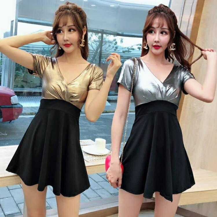 洋裝   小禮服  性感女裝新款低胸顯瘦遮肚裙子夜店大碼連身裙