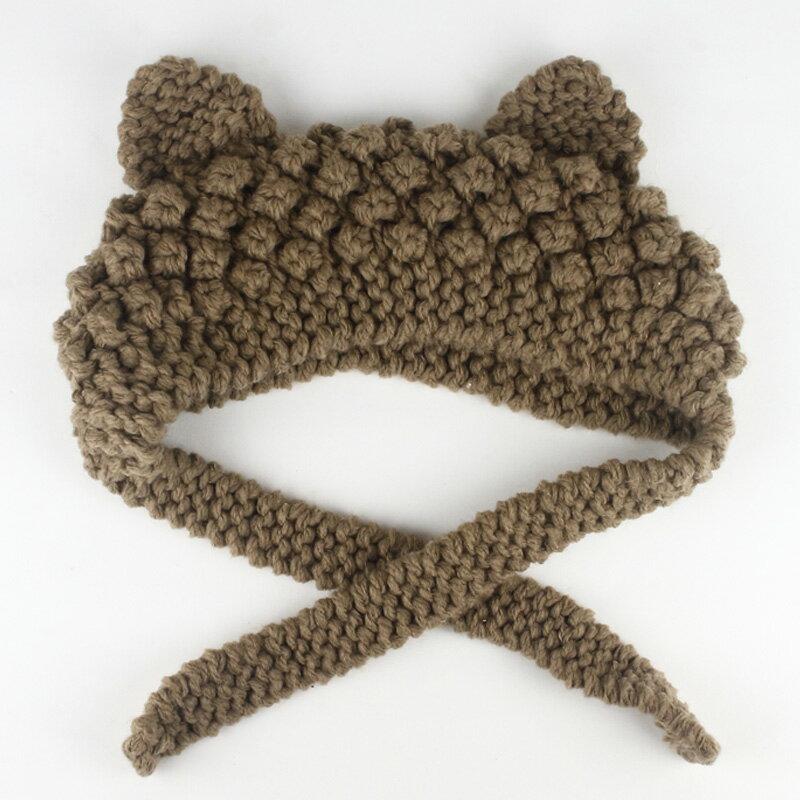 日系超萌耳朵針織毛線帽 寵物帽 造型帽 派對