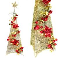 幫家裡聖誕佈置裝飾推薦聖誕裝飾及吊飾到180CM金紅色系聖誕裝飾四角樹塔(不含燈)YS-XDS016022就在摩達客推薦幫家裡聖誕佈置裝飾