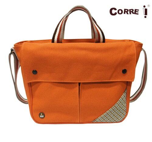 Corre【CG71072帆布毛格兩用包】 藍 / 紅 / 咖啡 / 橘 共四色 0
