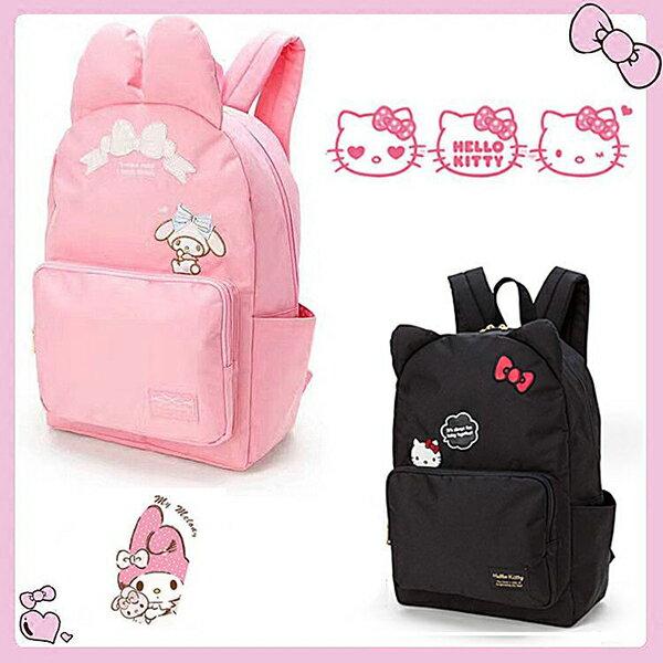 後背包 kitty & melody大容量帆布背包 兒童書包【包包阿者西】