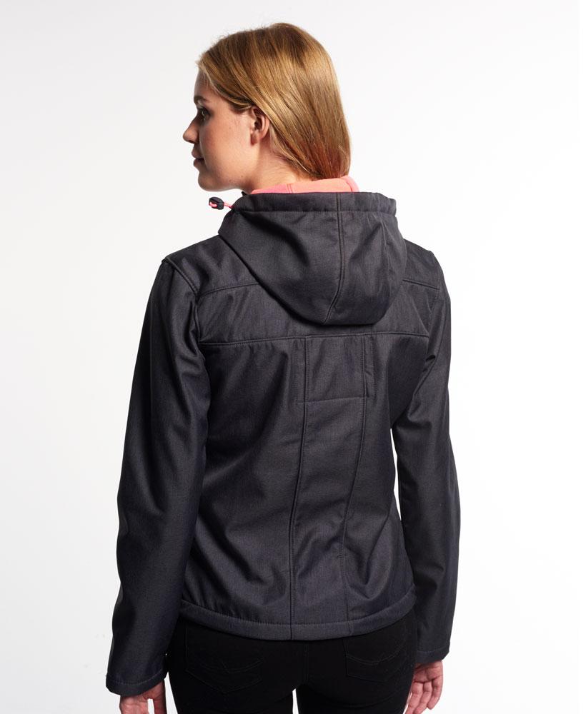 [女款] 極度乾燥 Superdry Windtrekker 炭灰/豔粉 連帽防風防水外套 2