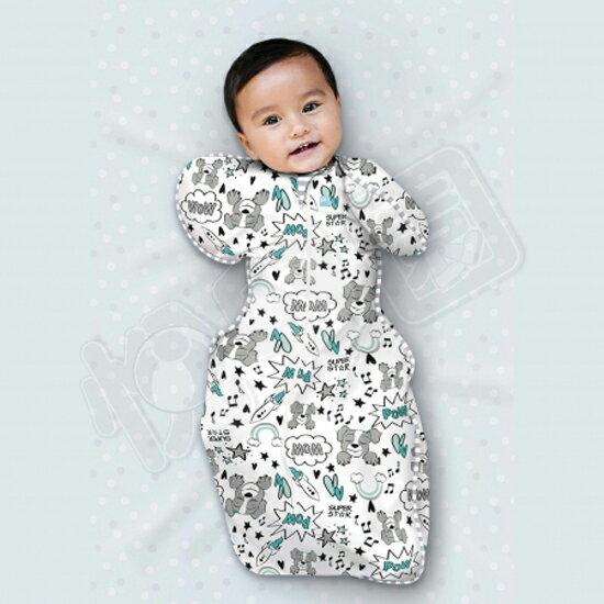澳洲 Love To Dream SWADDLE UP 專利蝶型包巾(一般款) Stage1 穿著式設計款-星際狗(S/M)【悅兒園婦幼生活館】【母親節推薦】