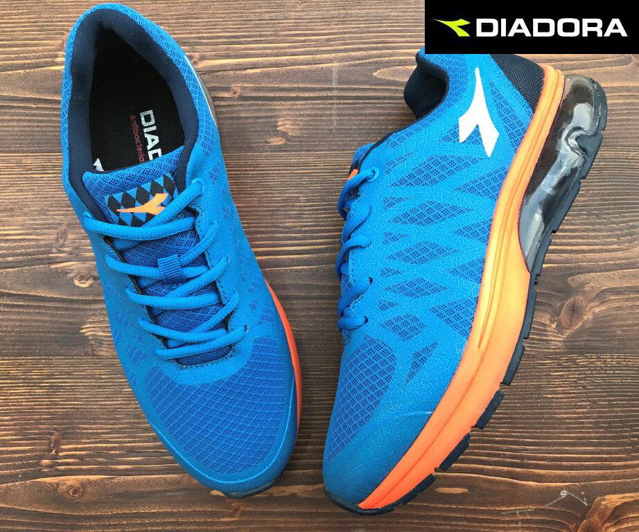 【剪標品出清-26號】義大利國寶鞋-DIADORA迪亞多納 男款E寬楦氣墊運動慢跑鞋