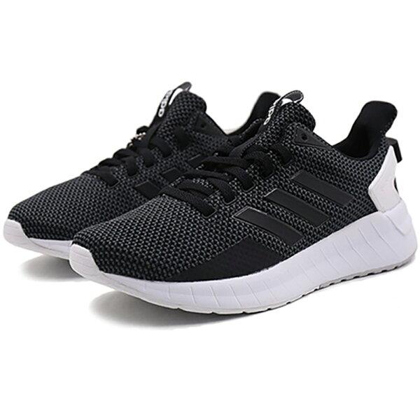 《限時特價↘7折免運》AdidasQUESTARRIDE女鞋慢跑休閒網布透氣輕量黑【運動世界】DB1308