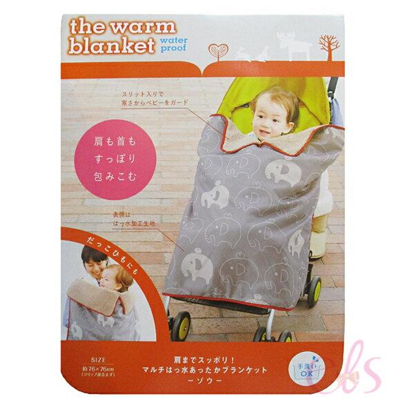 艾莉莎ELS:日本COGIT兒童肩膀包覆毛毯灰色大象☆艾莉莎ELS☆