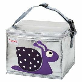【淘氣寶寶】加拿大 3 Sprouts 午餐袋-小蝸牛【 保溫效果,貼心扣環 23 cm寬*17cm高*18cm深】【 貨● 】
