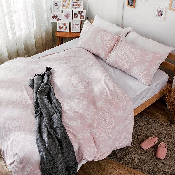 戀家小舖:床包雙人【寧靜洛可可】科技天絲,含兩件枕套,戀家小舖