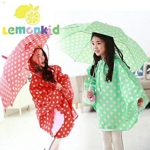 Lemonkid◆可愛波點公主款圓點直桿型雨傘
