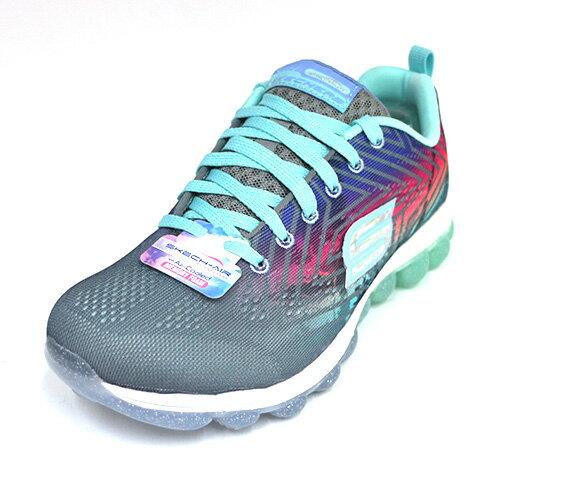 陽光運動館:SKECHERS(女童)Skech-Air系列Jumparound運動鞋氣墊鞋-80126LGYMT藍灰[陽光樂活]
