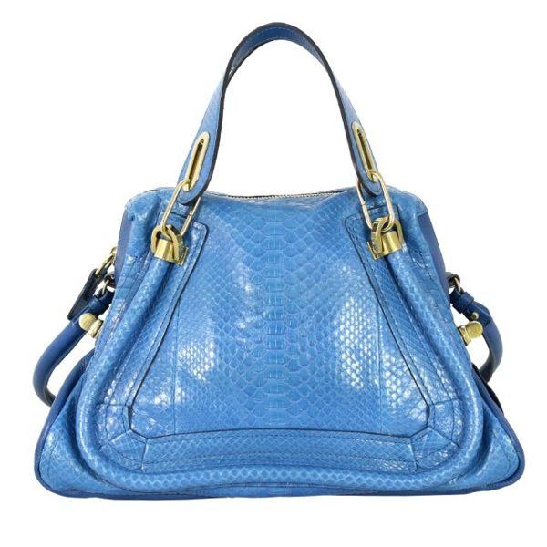 【CHLOE】蟒蛇皮中型Paraty(珊瑚藍) 8HS891 8H991 B9H