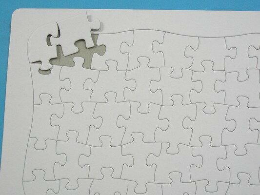 小40片 空白拼圖 彩繪拼圖 DIY拼圖(新弧形)/一袋50個入{定18}27.5cm x 21cm