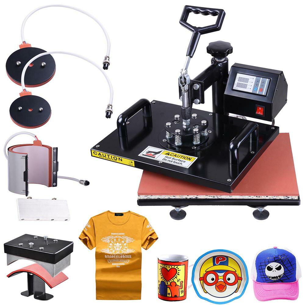 a88e39d7 5in1 12x15 Heat Press Machine Digital Transfer Sublimation T-Shirt Mug Hat  Plate 0