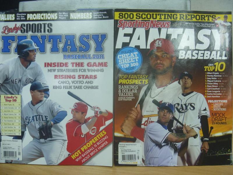【書寶二手書T3/雜誌期刊_WDG】FANTASY_2011sporting news....等_共2本合售