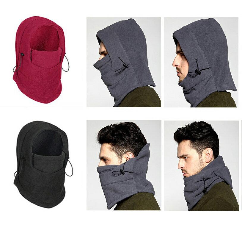 防風保暖面罩頭套帽 加厚擋風雙層搖粒絨騎車頭套 雙層 連帽 防風 防寒 保暖 保暖面罩 保