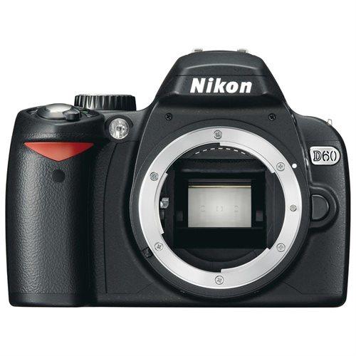 "Nikon D60 10.2 Megapixel Digital SLR Camera Body Only - 2.5"" LCD - 3872 x 2592 Image 0"