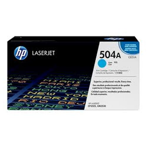 【HP 碳粉匣】HP CE251A/504A 原廠藍色碳粉匣