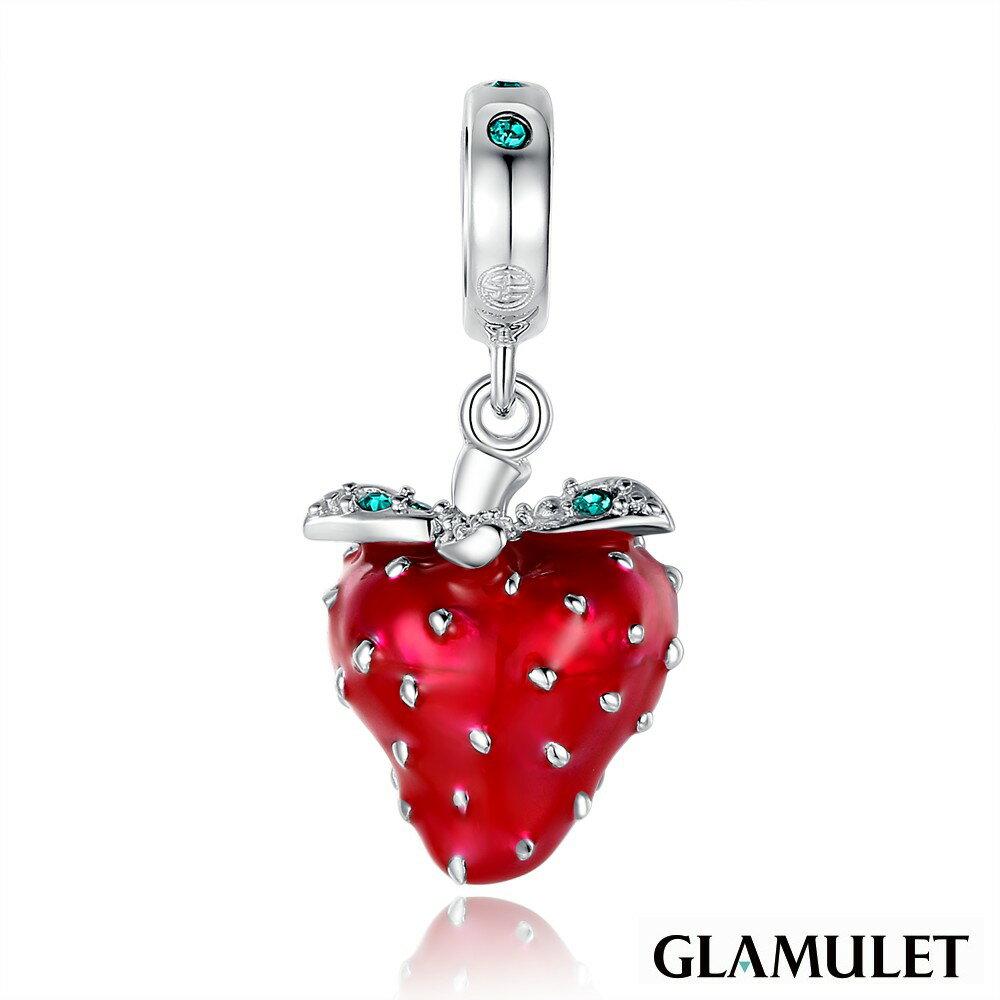 Glamulet格魅麗925純銀閃閃發光的草莓-施華洛世奇