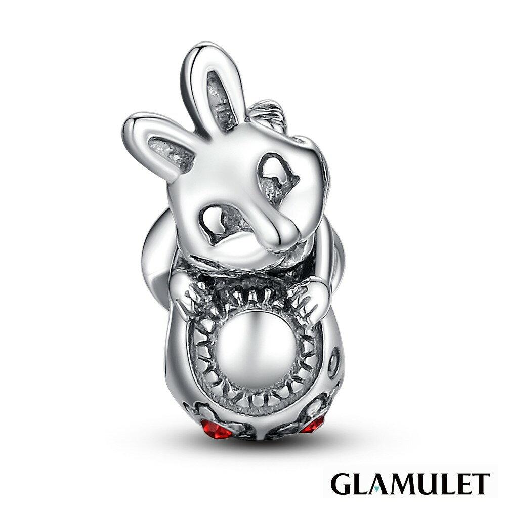 Glamulet格魅麗925純銀復活節兔子和蛋蛋 charm