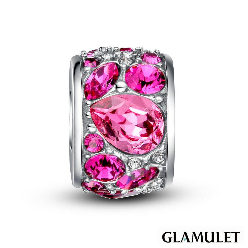 Glamulet格魅麗925玫紅色純銀Charm-施華洛世奇