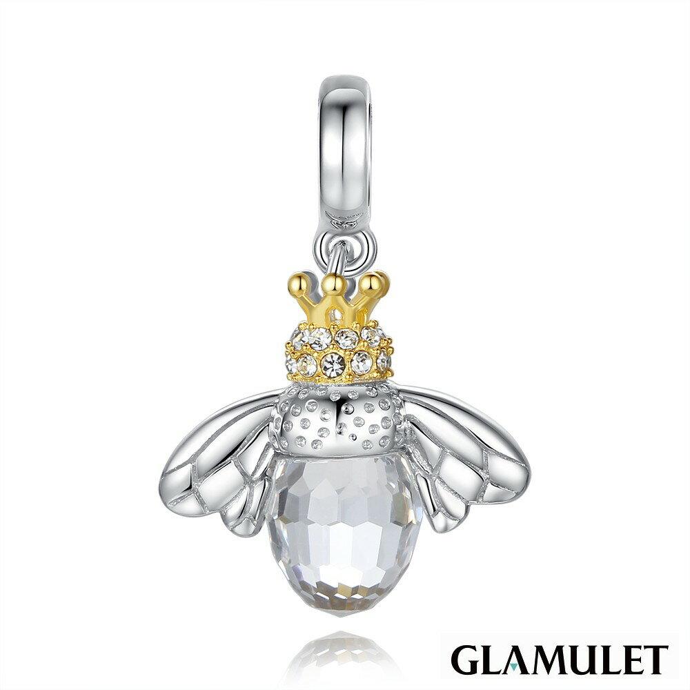 Glamulet格魅麗925純銀勤勞的蜜蜂皇后 charm-施華洛世奇