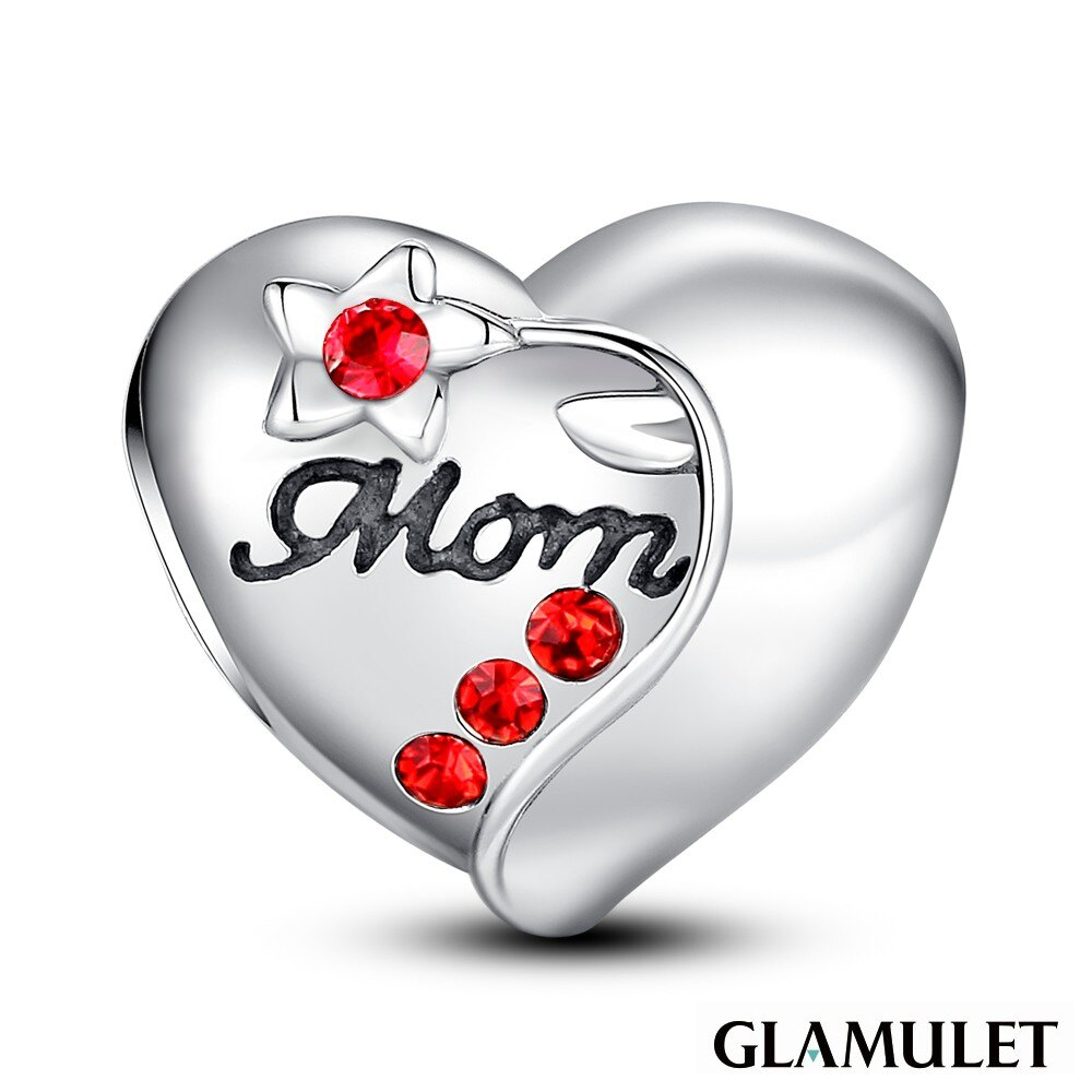 Glamulet格魅麗925純銀水晶手環吊飾媽媽的心就像花兒