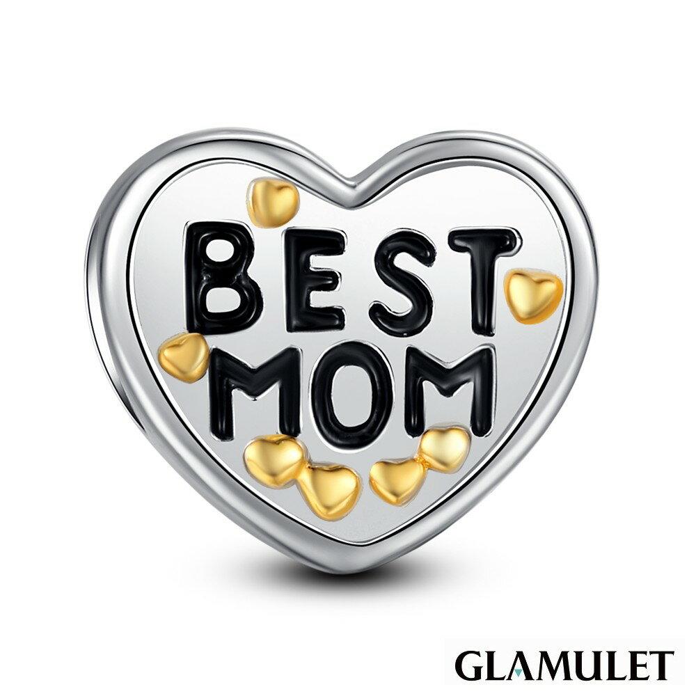 Glamulet格魅麗925純銀最棒的媽媽 Charm手環手鏈串珠吊飾