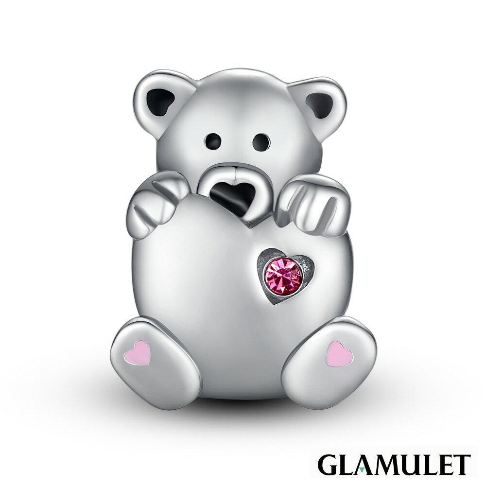 Glamulet格魅麗925純銀水晶手環手鏈吊飾串珠愛心熊