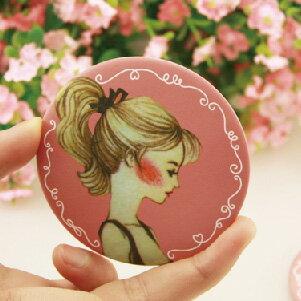 美麗大街【BF501E01】 韓版甜美可愛小圓鏡/化妝鏡/隨身鏡
