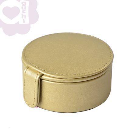 【Aguchi 亞古奇】法式馬卡龍-香檳金 珠寶盒(玩美精靈系列) 1