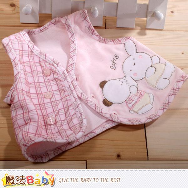 專櫃款嬰幼兒絲絨背心外套 魔法Baby~k42306