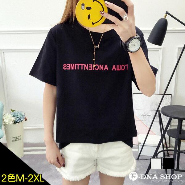 下殺229元★F-DNA★極簡字母圓領短袖上衣T恤(2色-M-2XL)【ET12687】
