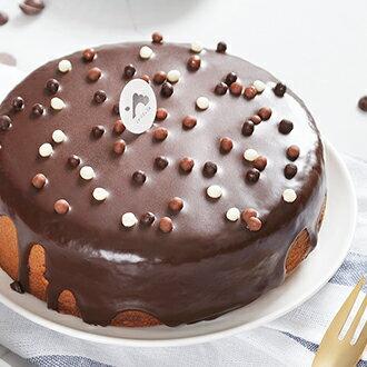 LeFRUTA朗芙*慶祝/大理石巧克力蛋糕/【彌月節慶推薦】/6吋蛋糕/每日限量供應/純手工製作/彌月蛋糕/節慶送禮/比利時嘉莉寶60.1%苦甜巧克力製成