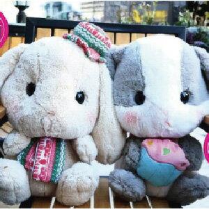 美麗大街【107021004】日本LOLITA超萌小白兔垂耳兔布娃娃玩偶公仔毛絨玩具女生(40公分)