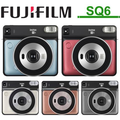 送2盒空白底片+相片透明套20入 富士 FUJIFILM INSTAX SQUARE SQ6 【24H快速出貨】正方型 復古拍立得相機 原廠公司貨保固一年