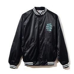 ASSC day dream jacket 黑 綠字 棒球外套