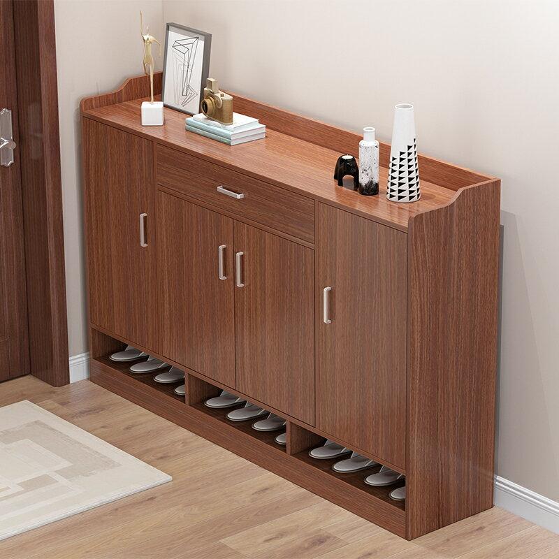 鞋櫃實木色儲物櫃收納鞋架子 雙十一