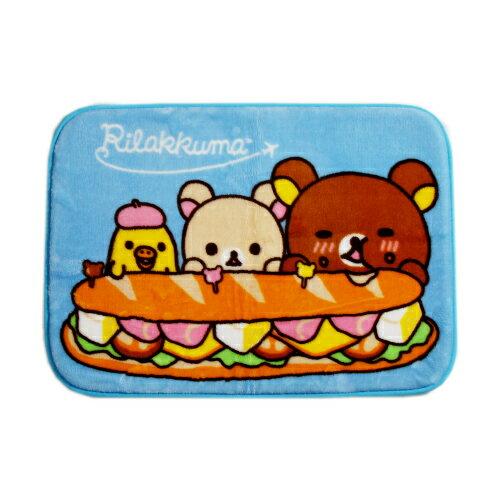 拉拉熊漢堡踏墊-藍色(65*45cm)【愛買】