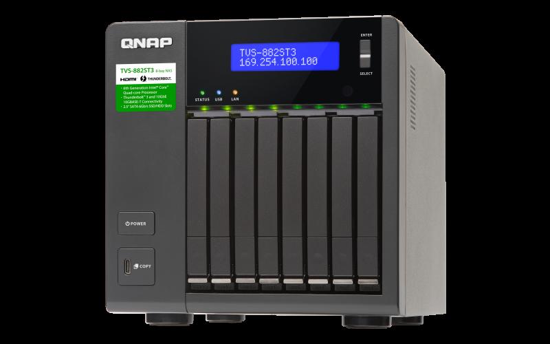 QNAP 威廉通 TVS-882ST3-i7-16G 8Bay NAS 網路儲存伺服器 2