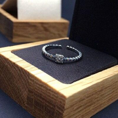 925純銀戒指鑲鑽銀飾~ 典雅耀眼迷人生日情人節 女飾品73ic7~ ~~米蘭 ~