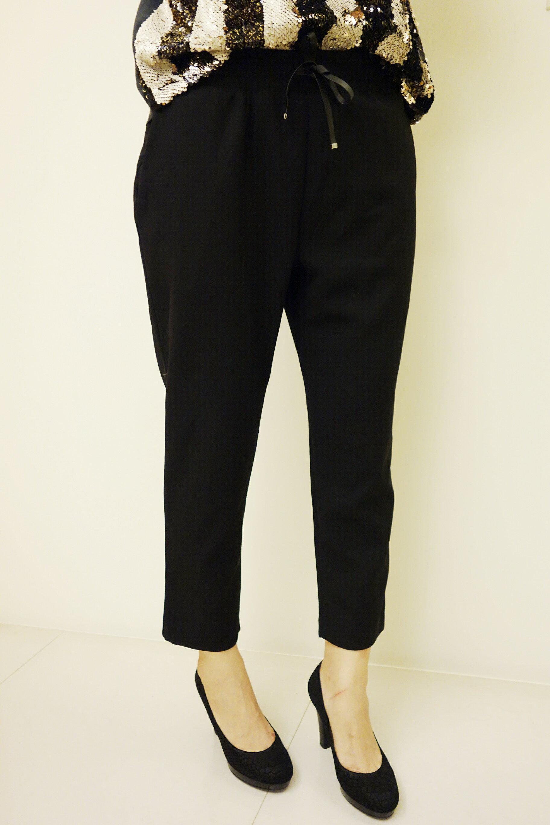 【miss emma】韓國簡約時尚設計鬆緊帶西裝褲