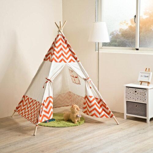 帳篷遊戲屋TZUMii民族風條紋紅帳篷