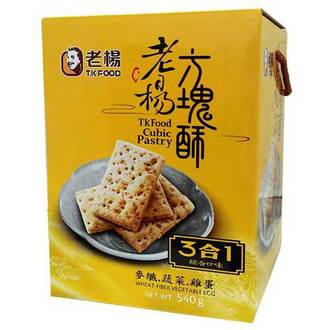 老楊 方塊酥 禮盒-3合1(雞蛋+麥纖+蔬菜) 540g