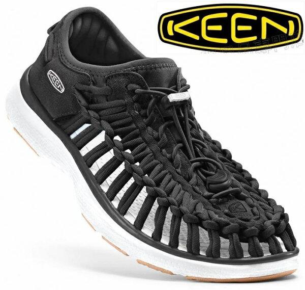 KEEN涼鞋運動涼鞋繩編涼鞋休閒鞋UNEEKO2LTD女款1017055黑白台北山水