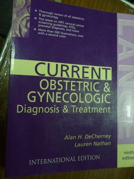 【書寶二手書T9/大學理工醫_PEB】Current Obstetric & Gynecologic…_9/e