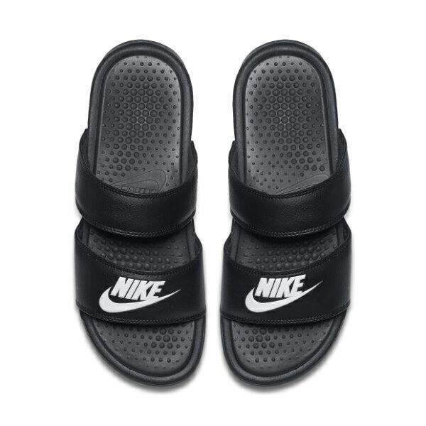 NIKEBENASSIDUOULTRASLIDE女鞋拖鞋兩槓雙帶休閒黑白【運動世界】819717-010
